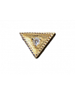 BVLA Triangle Harlequin Threadless End in Gold
