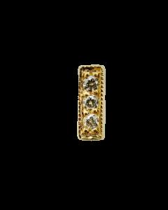 BVLA Micropavé Millgrain Strip Threadless End in Gold