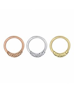 BVLA Janna Hammered Seam Ring in Gold