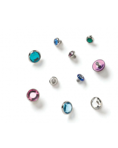 Industrial Strength Flat Back Gem Threaded End in Surgical Steel