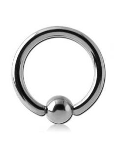 Blue Mountain Steel Captive Bead Ring in Steel